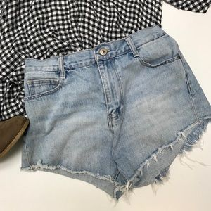 Zara high waisted cutoff jean shorts 6